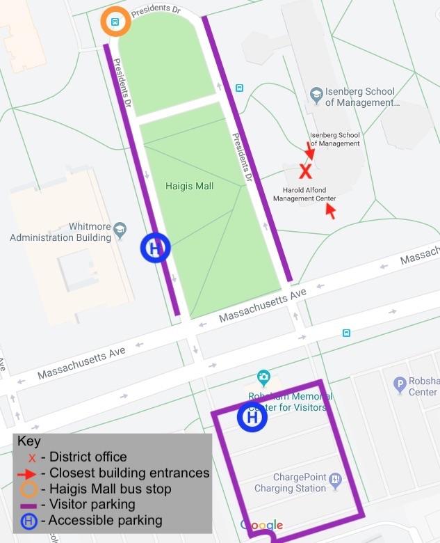 UMass Office Map
