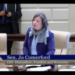 Senator Jo Comerford speaks on the Senate floor about the Healthy Incentives Program